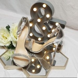 Silver Blinged Out Stiletto Womens Pumps